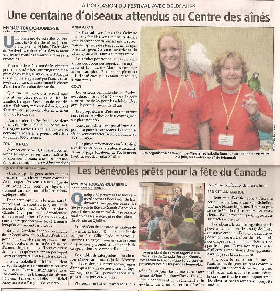 Canada Francais, 27 mai 2016